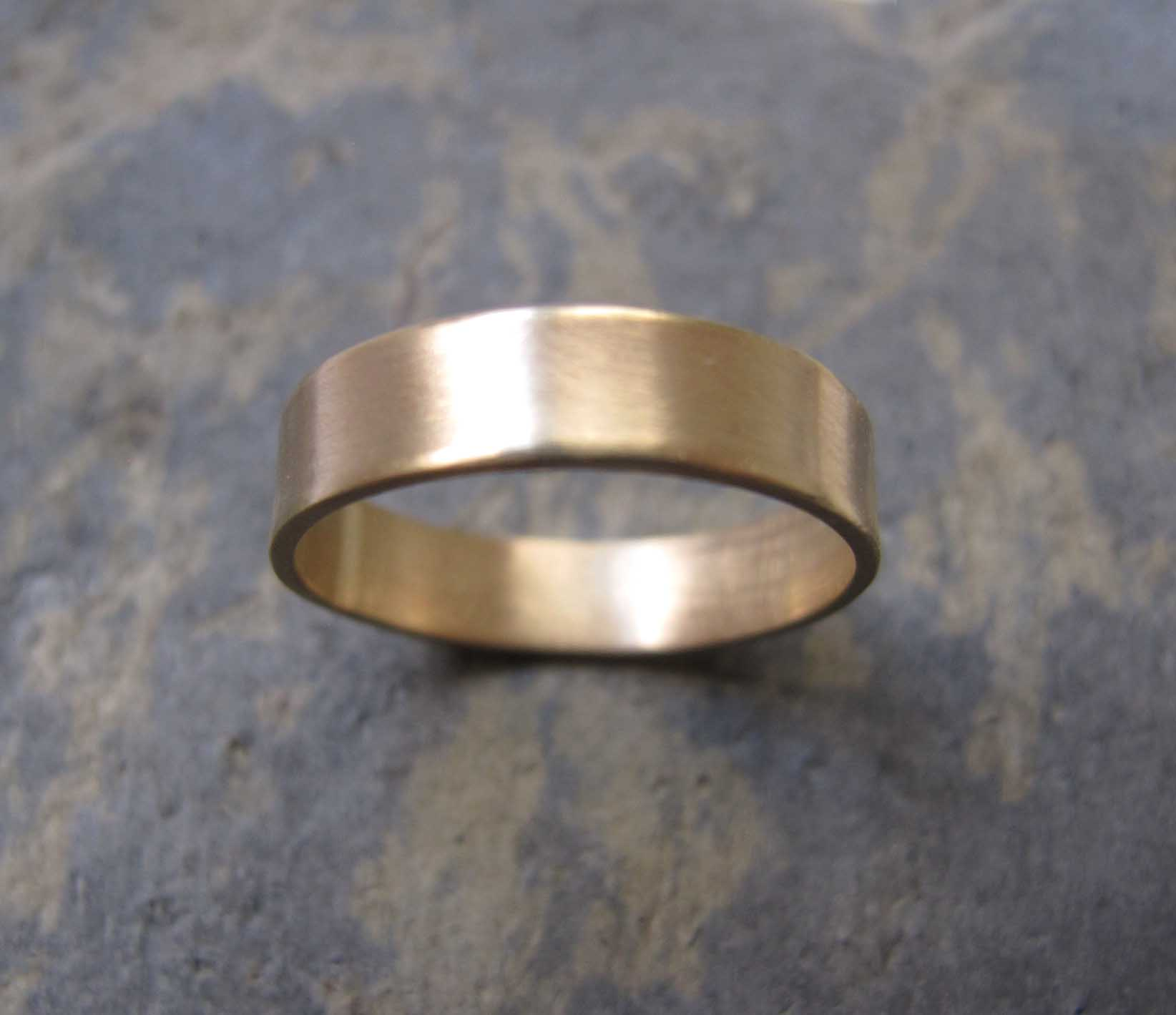 Handmade Mens Gold Wedding Rings London